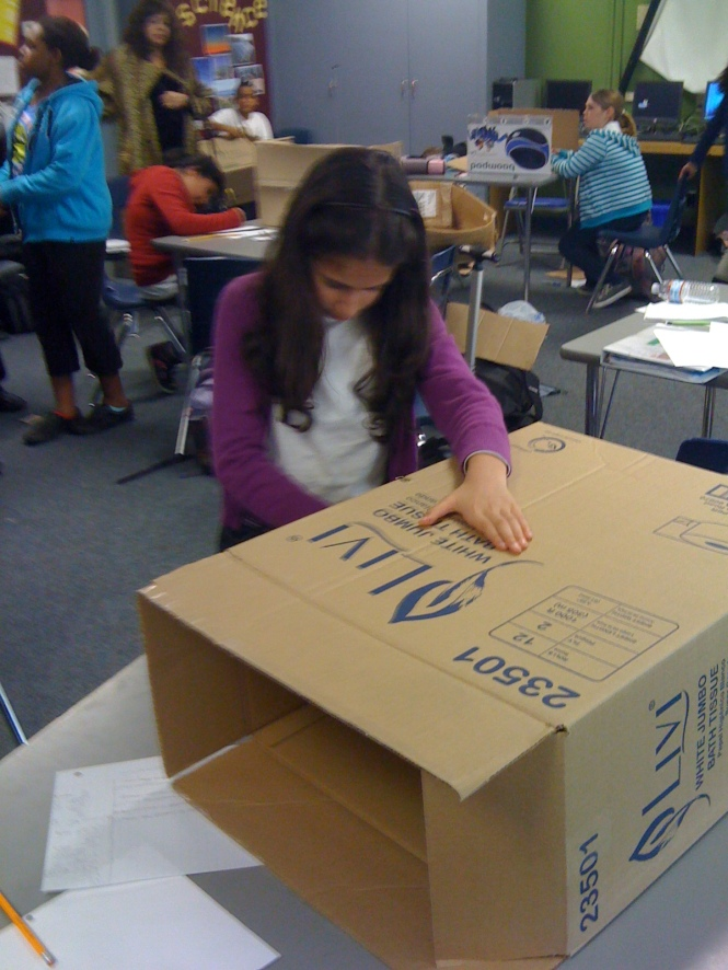 Engineering new ideas at Tracy Sdhool, Tracy Learning Center, Tracy, CA.