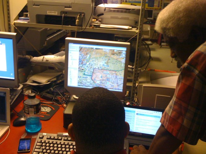 GPS, GIS comes to urban students in a neighborhood setting