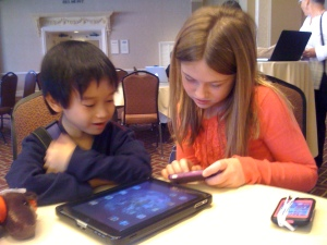 We know that the children using devices will learn and think in different ways.