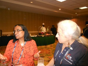 Diane Baxter and     Mano Talaiver who work with K-12 teachers