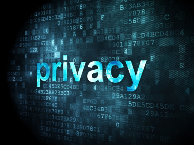 Security concept: Privacy on digital background